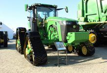 John Deere 8RX tractor at World Ag Expo