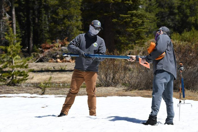 DWR checking snowpack