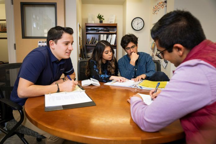 students working at Cal Poly