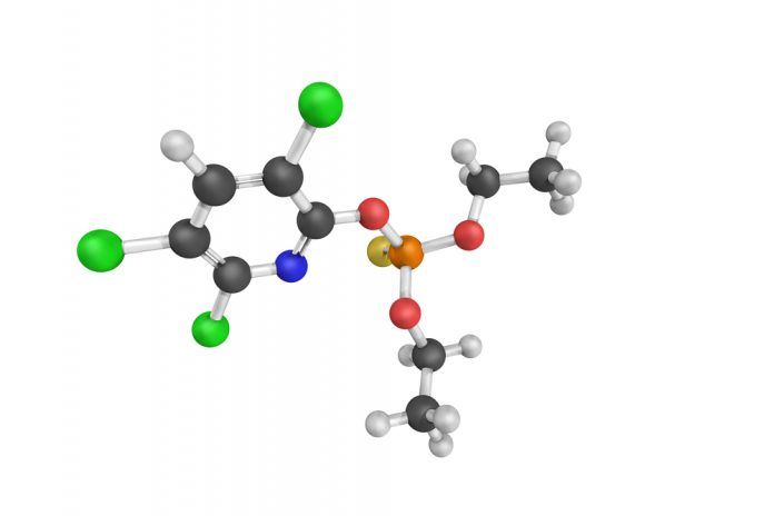 3d structure of Chlorpyrifos