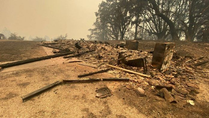 CZU Lightning Complex fire destroyed buildings at Swanton Pacific Ranch