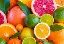 Citrus fruits orange lemon grapefruit mandarin lime