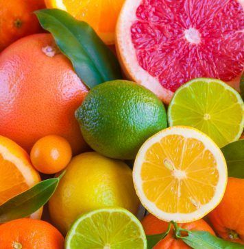Citrus fruits orange lemon grapefruit mandarin lime