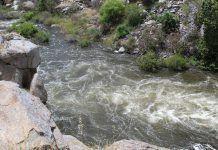 water running through canyon