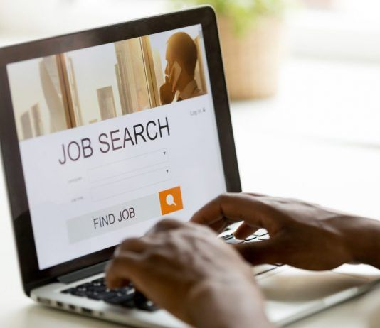 EMPLOYMENT OPPORTUNIES JOB SEARCH ON LAPTOP