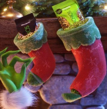 pistachios in Christmas stocking