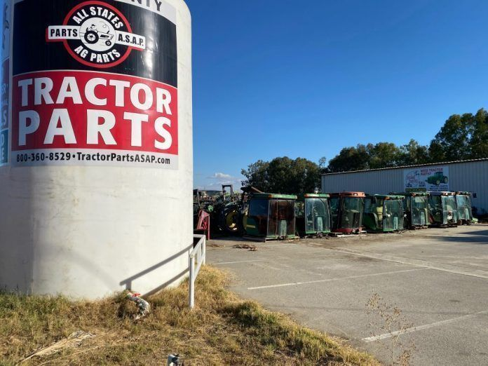 All States Ag Parts salvage yard in McFarland, California