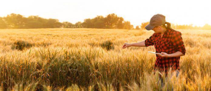 young woman farming