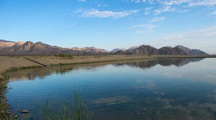 Groundwater recharge pond located in Coachella (DWR)