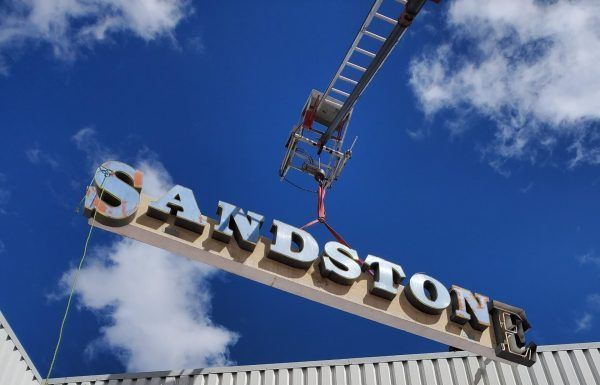 Sandstone Brick Company sign