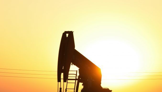 pump jack at oil well