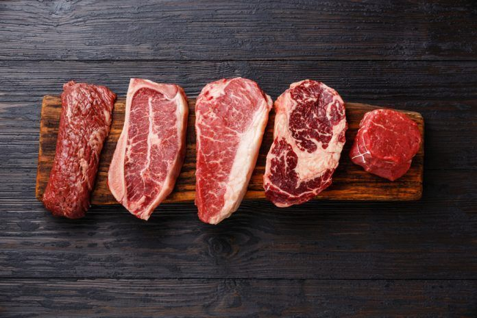various cuts of beef