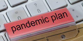 folder tab saying pandemic plan